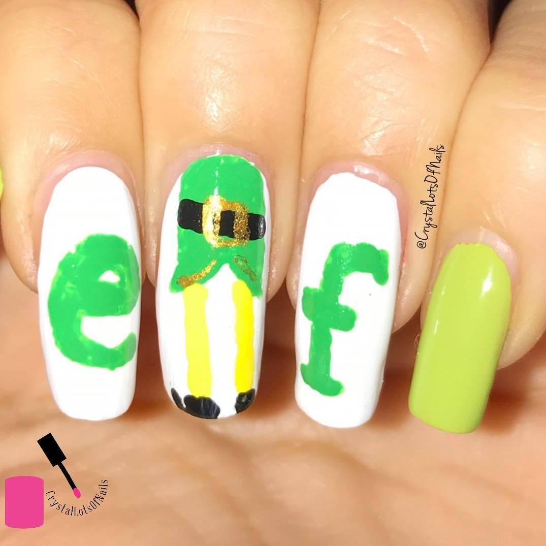 Christmas Nails Elf: 15 Buddy The Elf Nails That Will Make You Smile (With