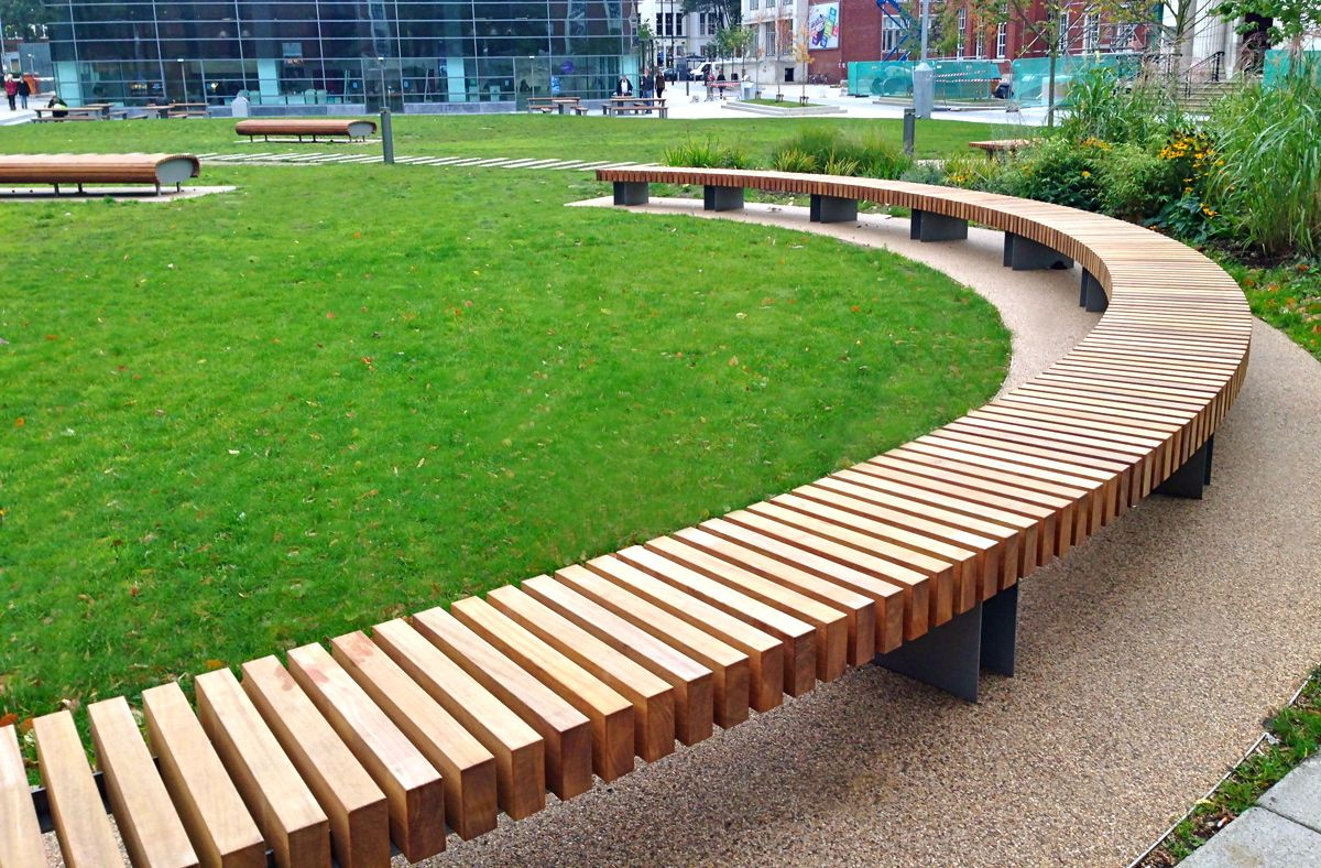 Clifton Hardwood Bench Woodscape Street Furniture