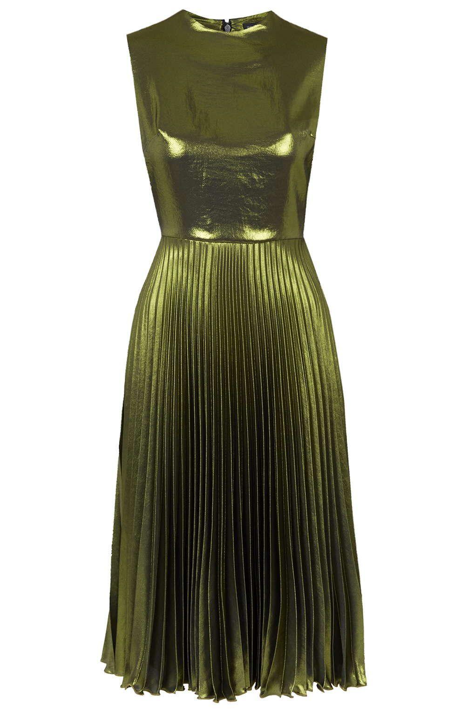 Metallic Pleated Midi Dress Dresses Clothing Pleated Midi Dress Dresses Metallic Cocktail Dresses [ 1530 x 1020 Pixel ]