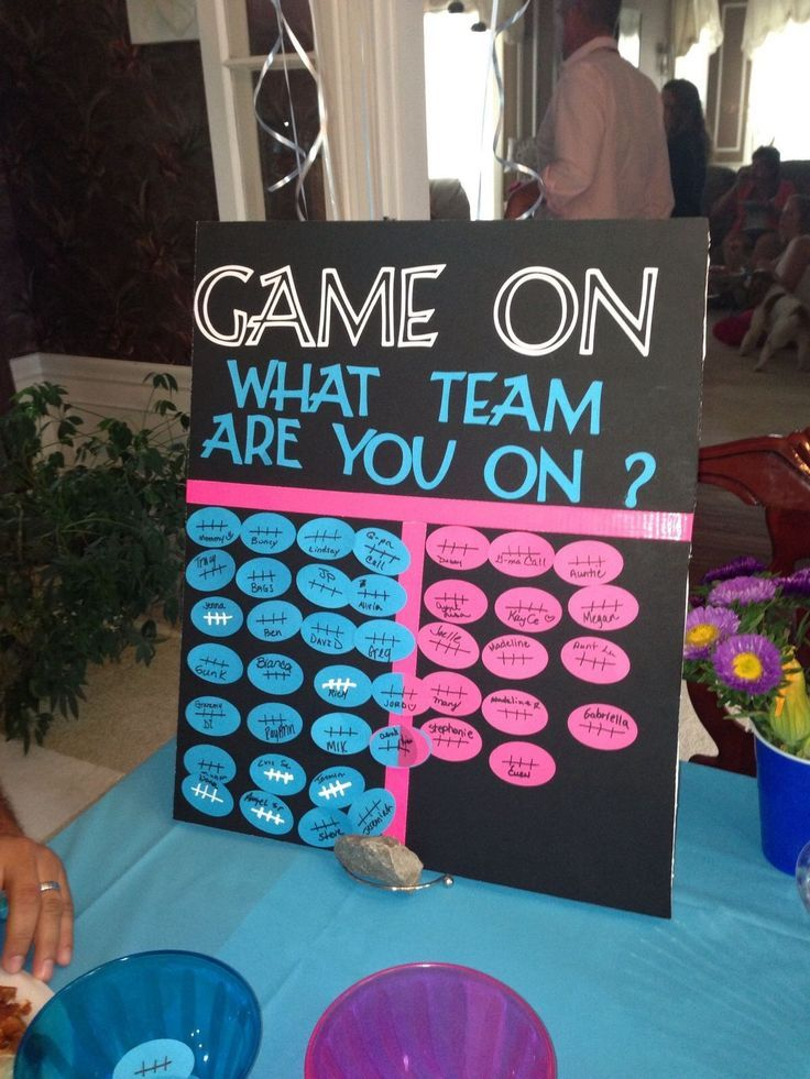 Cute idea for a gender reveal baby shower – How to Announce Baby Boy