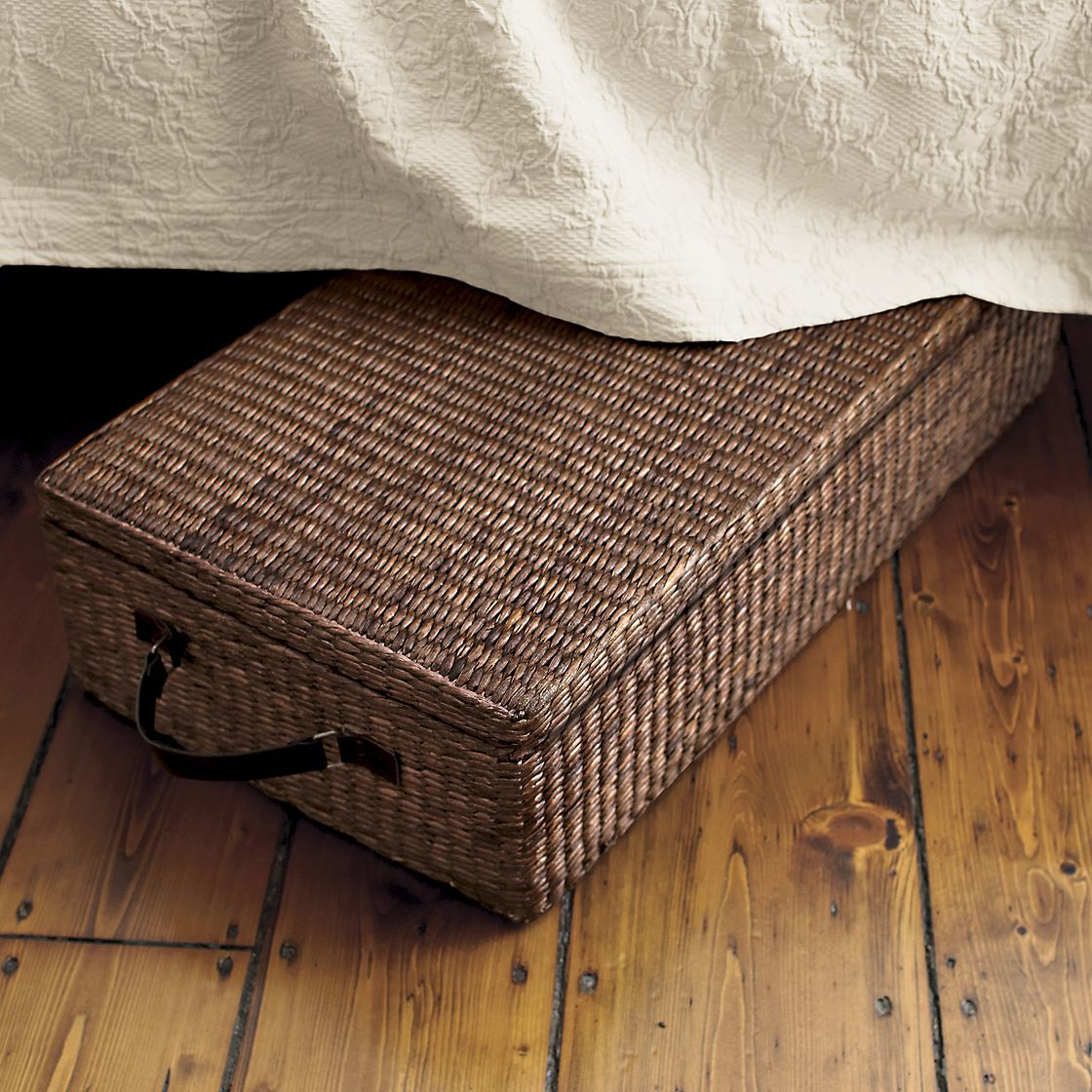 under bed storage box with lid wicker it 39 s timeless pinterest. Black Bedroom Furniture Sets. Home Design Ideas