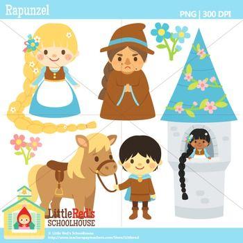 Rapunzel Clipart Digital Stamps Clip Art Fairy Tales