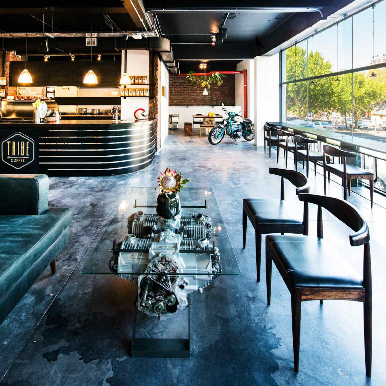Tribe Coffee Bmw Motorrad South Africa Cafe Interior Design Bmw Motorrad Cafe Design