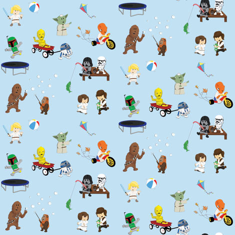 Sw kids 4x4 fabric by nixongraphix on spoonflower custom for Kids character fabric