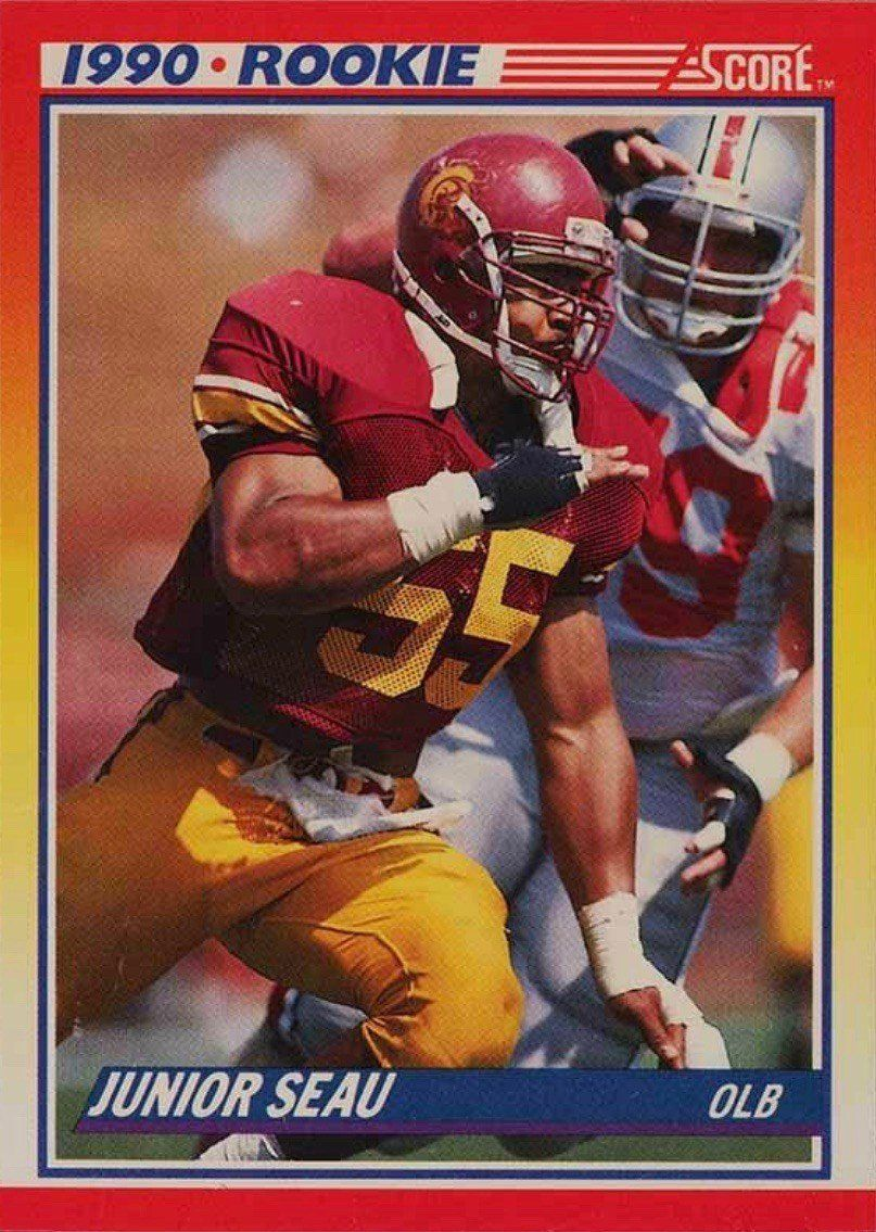 1990 Score 302 Junior Seau Rookie Card In 2020 Football Cards Junior Seau Sports Cards