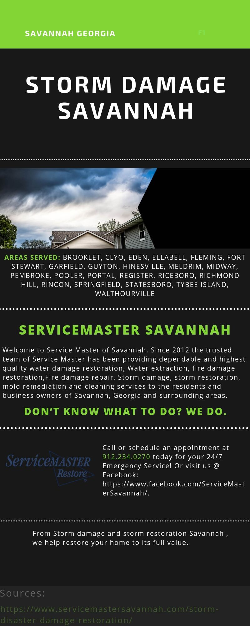 Servicemaster Of Savannah S Leading Storm Damage Restoration