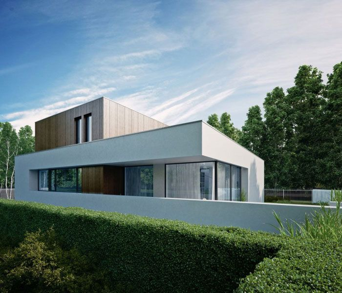 Wooden Cube House Architecture House Modern House Design