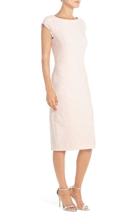 Maggy london cap sleeve sheath cocktail dress