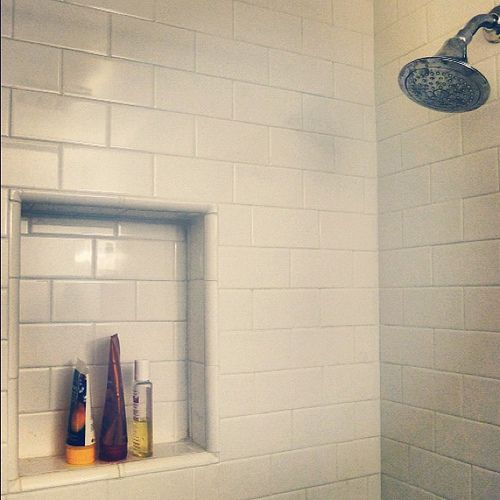 Good A Much Needed Shower Insert And Much Wanted Subway Tile