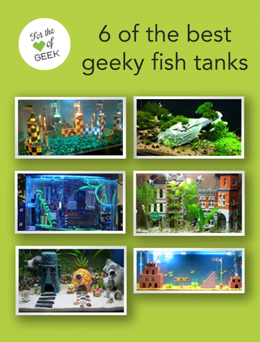 6 Of The Best Geeky Fish Tanks Fish Tank Geeky Nerd Decor