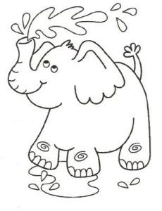 Free Animals Elephant Printable Coloring Pages For Kidzone