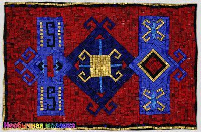 UNUSUAL MOSAIC: Magic Carpet. Mosaics