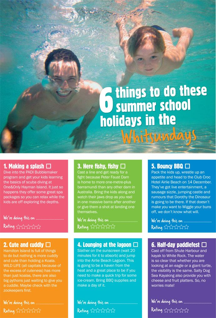 Good 6 Things To Do These Summer School Holidays In The Whitsundays.  #lovewhitsundays #thisisqueensland Amazing Ideas