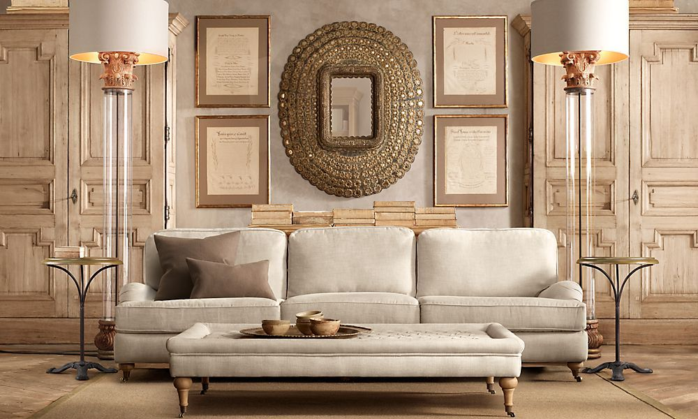 Marvelous Restoration Hardware Rooms English Roll Arm 9 Sofa Home Interior And Landscaping Ologienasavecom