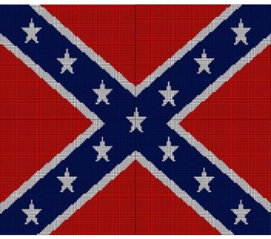 Crochet Pattern Excel : Confederate Flag Afghan Crochet Pattern Graph, USD5.00 ...