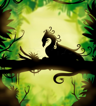 how to draw a fantasy dragon silhouette | Dragon silhouette, Sillouette painting ...