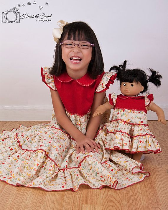 Doll dress pattern - Mini Blue Belle PDF pattern - 15\