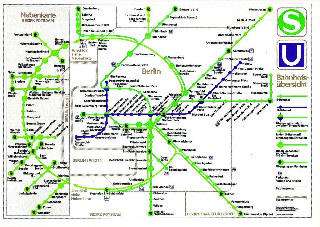 Ost Berliner U Bahn S Bahn Netz During Cold War
