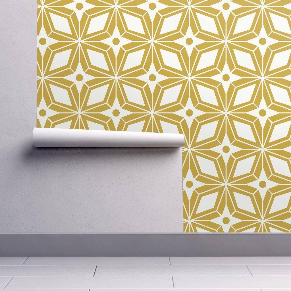 Starburst Midcentury Modern Geometric Modern Wallpaper Modern Desktop Wallpaper Wallpaper Roll