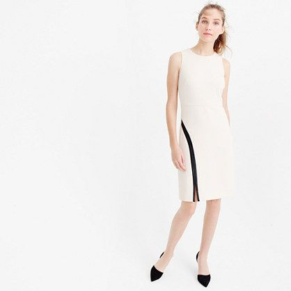 Sheath dress with faux leather : wear-to-work | J.Crew