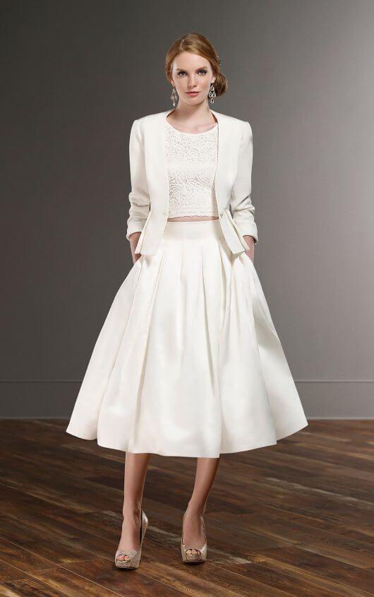 Zweiteiliges schickes Brautkleid mit Jacke | Pinterest | Martina ...