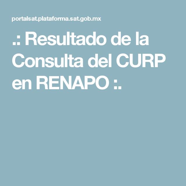Renapo Oficinas Donde Tramitar La Curp 2019 10 06