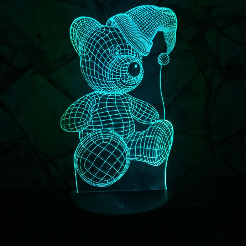 Teddy 3d Night Light Decor 3d Night Light Night Light Baby Teddy Bear