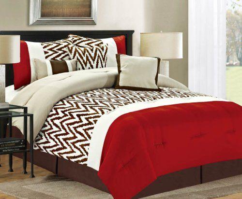Luxury Home 7-Piece Bentley Comforter Set, Queen, Red Indecor Home,http://www.amazon.com/dp/B00GFYOFO2/ref=cm_sw_r_pi_dp_nCR3sb05MEGZ0MF9
