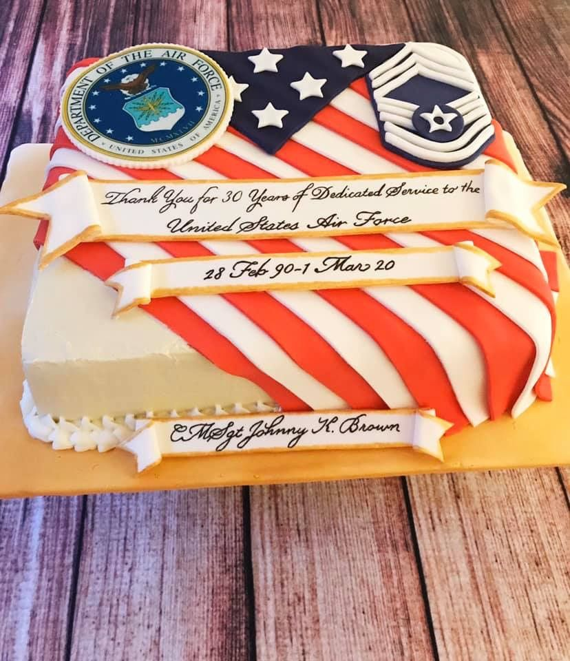 Pin by Samantha Terry on AF Retirement Retirement cakes