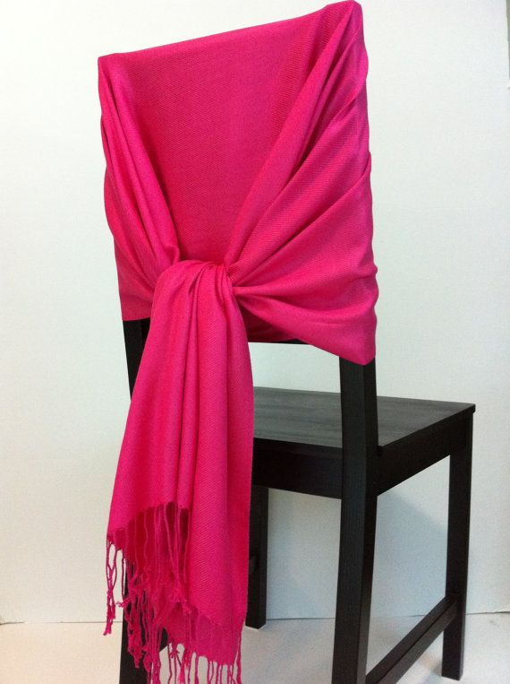 For the maids, mom? Also available in orange. Hot Pink pashmina  pashmina scarf pashmina shawls by WeddingShawls, $11.00