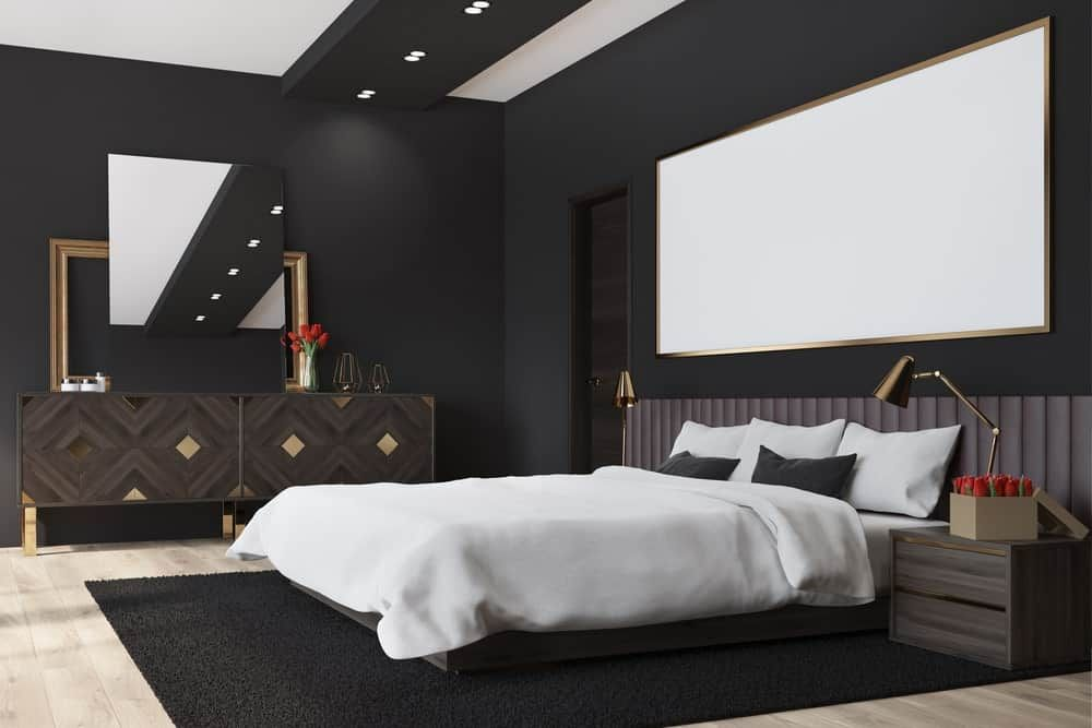 60 Black Interior Design Ideas Black Room Designs Black Master Bedroom Black Interior Design Black Rooms