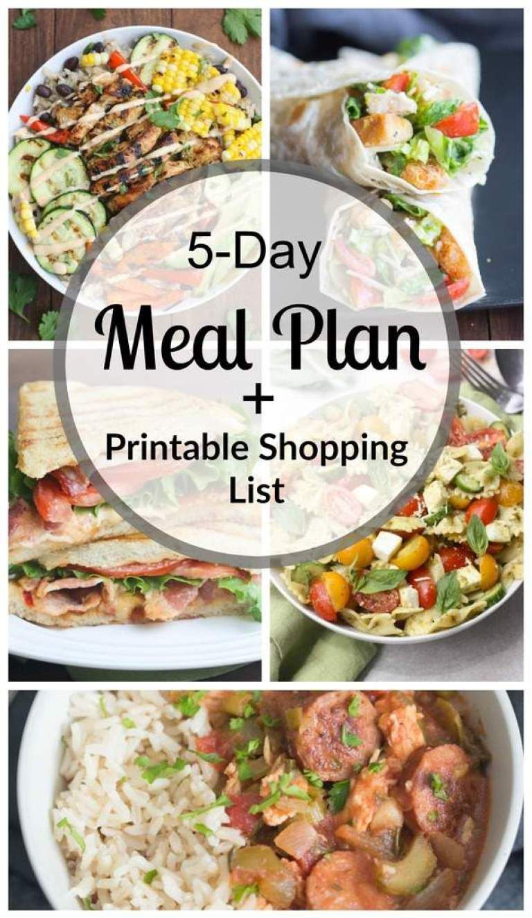 Free money saving weekly meal plans printable plans with family - A Meal Plan With Easy And Family Friendly Dinners As Well As A Free Printable Shopping List So That You Always Have An Answer For That Nagging Question