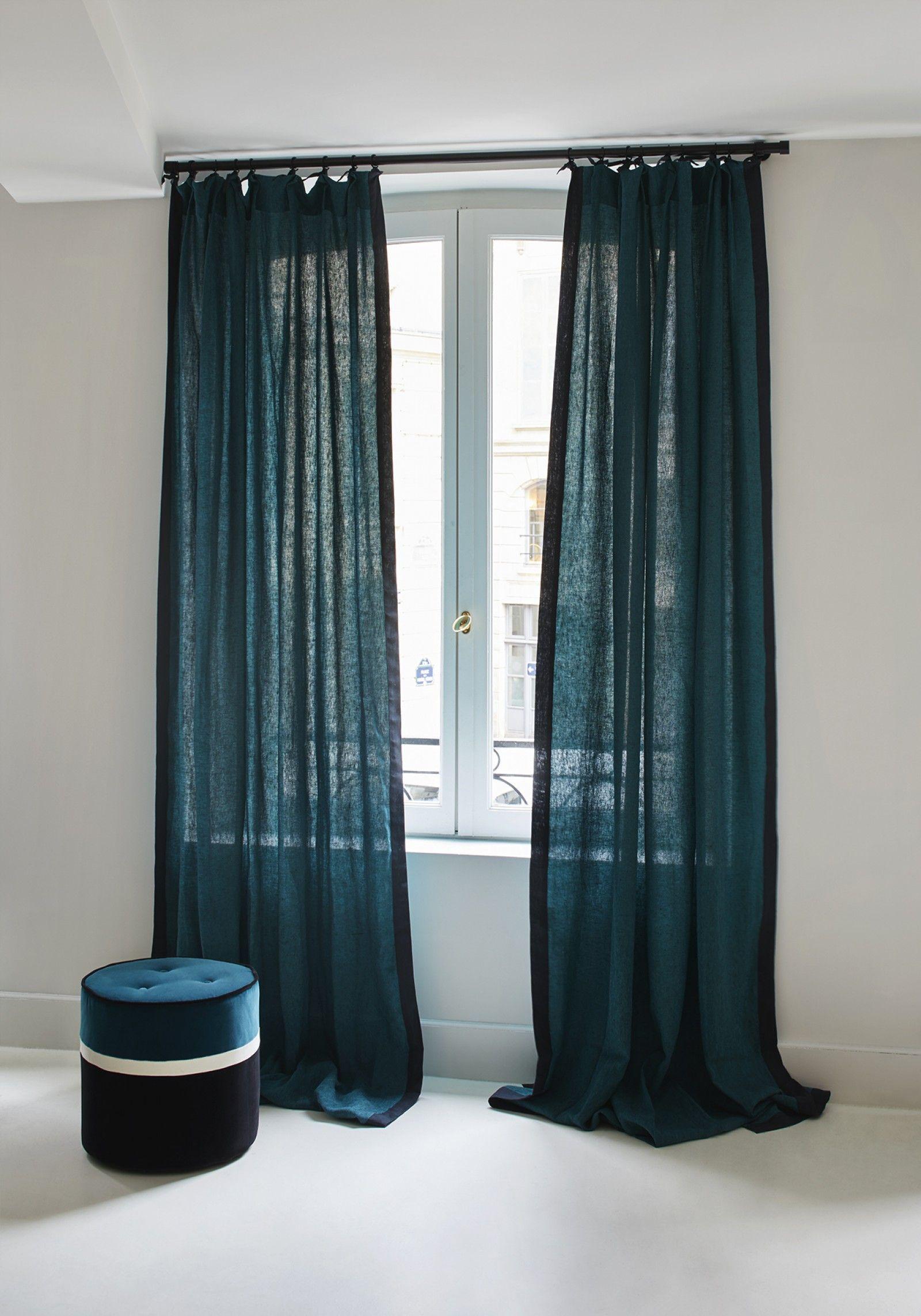 Rideaux Lin Ava Sarahlavoine Deco Design Inspiradeco Deco Rideaux Salon Idee Rideaux Rideaux Chambre