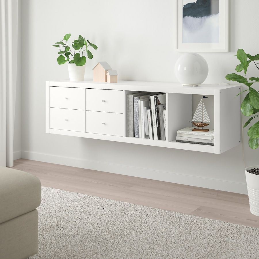 KALLAX Shelf unit with 9 inserts - white - IKEA in 9090  Ikea