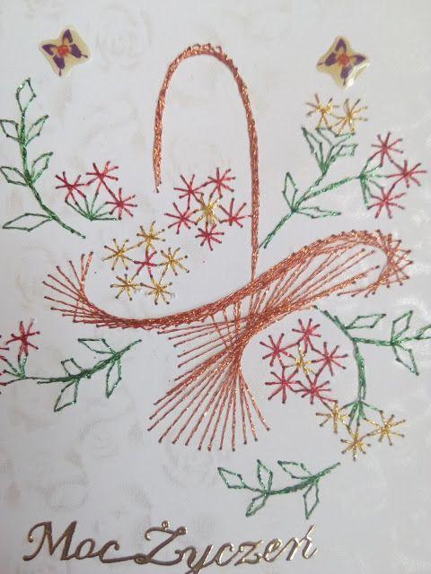 Schematy Haft Matematyczny Kwiaty Paper Embroidery Embroidery Cards Stitching Cards
