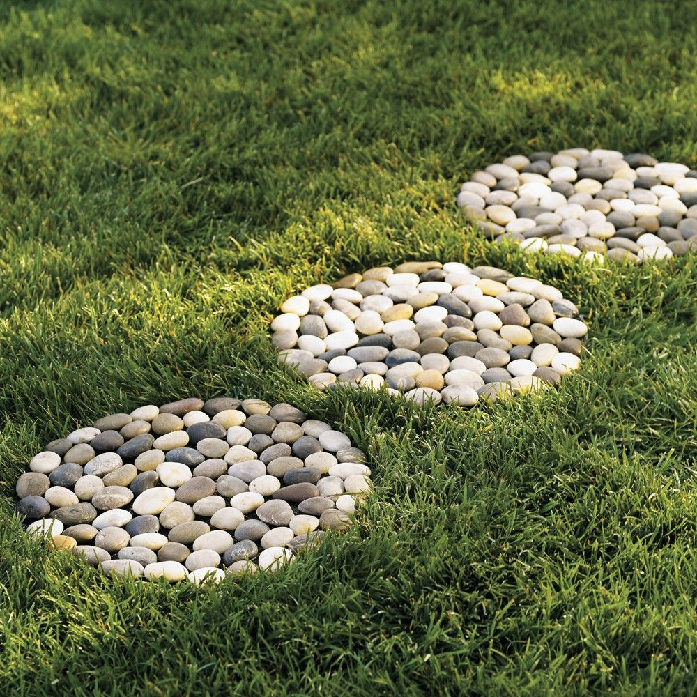 Como Decorar Un Jardin Con Piedras River Stepping Stones Set Of 3 Landscapes Pinterest Jardín