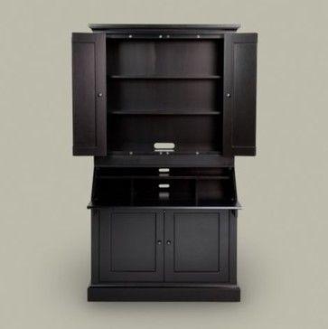 American Artisan Secretary Desk Upper Cabinet Contemporary Desks