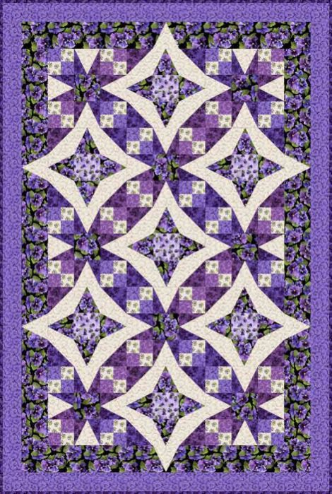 Pansies in Paradise Quilt Kit Designed by Debbie Beaves using her ... : debbie beaves quilt patterns - Adamdwight.com