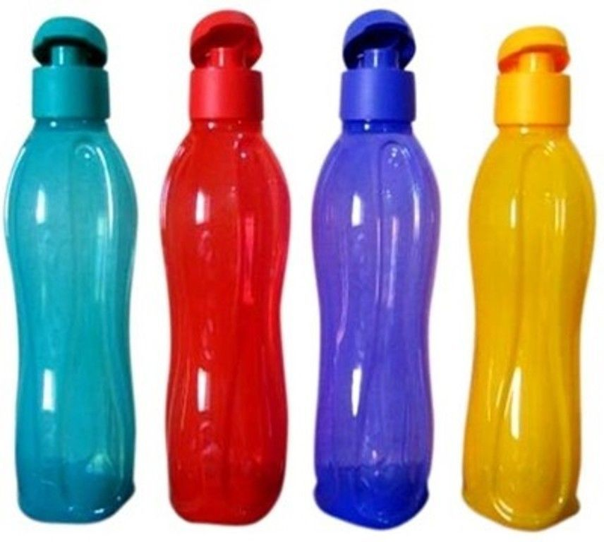 Tupperware 750 Ml Flip Top Water Plastic Bottles 4*750 Ml Free Shipping