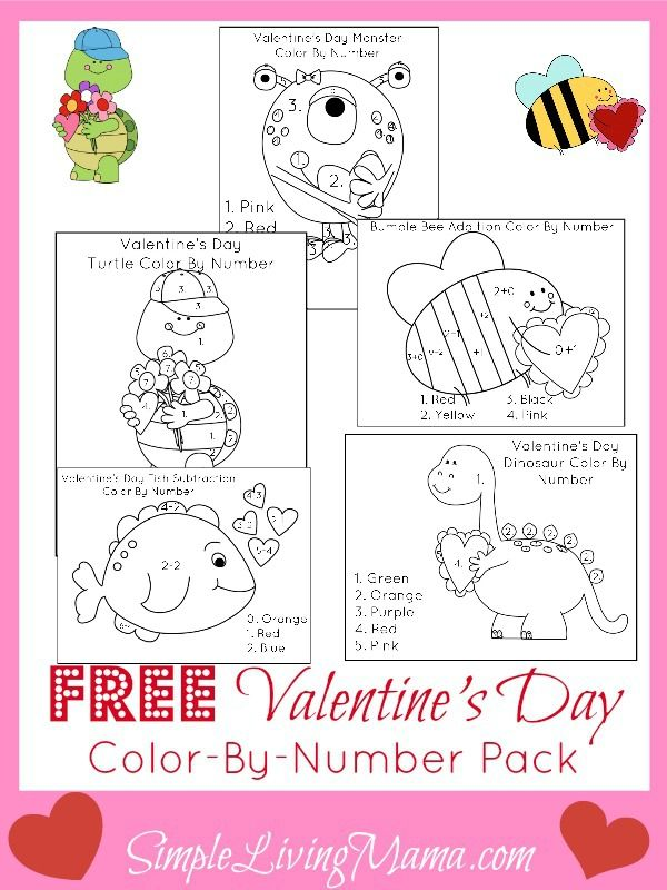 valentine's day activities for kids + free valentine's day color, Ideas
