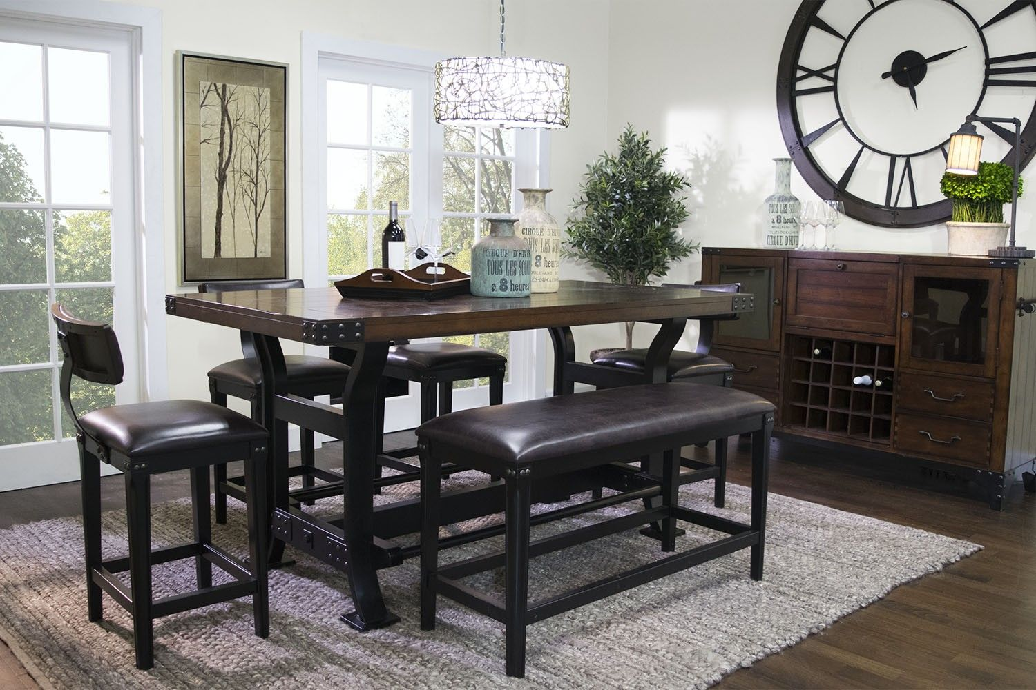 Iron Works Counter Height Dining Room Media Image 1 Dining Room