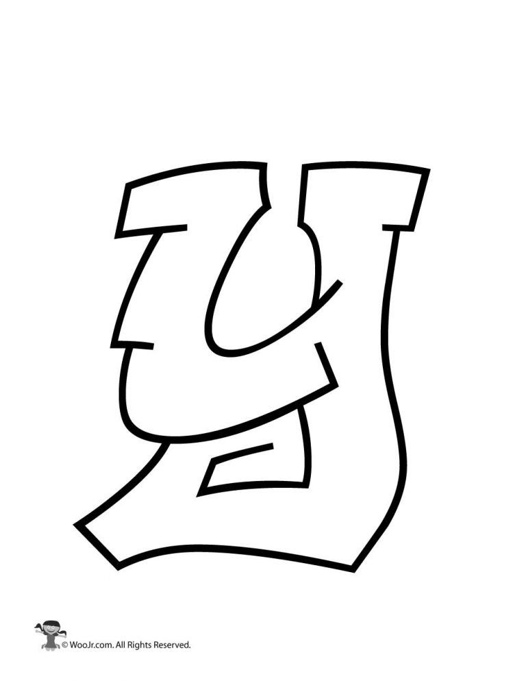 Graffiti Capital Letter Y Woo Jr Kids Activities Lettering Alphabet Graffiti Lettering Graffiti Art Letters