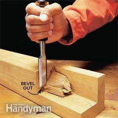How to Use a Wood Chisel | The Family Handyman