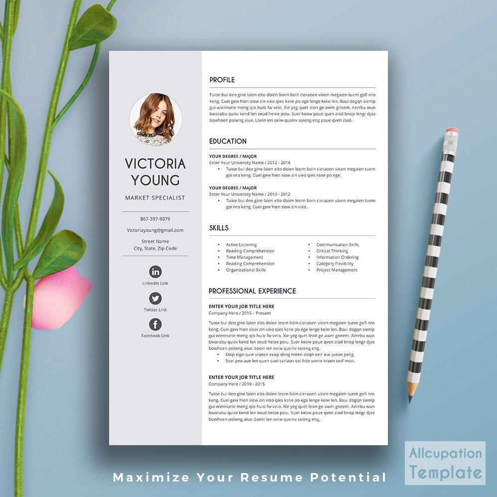 professional resume template cv template cover letter word professional resume template cv template cover letter word creative modern simple teacher resume ms office instant victoria by allcupation