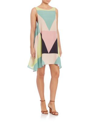 MARA HOFFMAN Mosaic Swing Dress. #marahoffman #cloth #dress