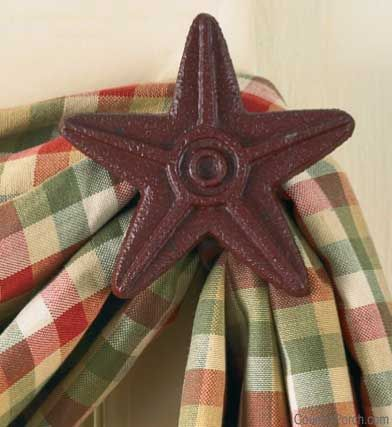 Red Cast Metal Star Curtain Hooks By Park Designs At The