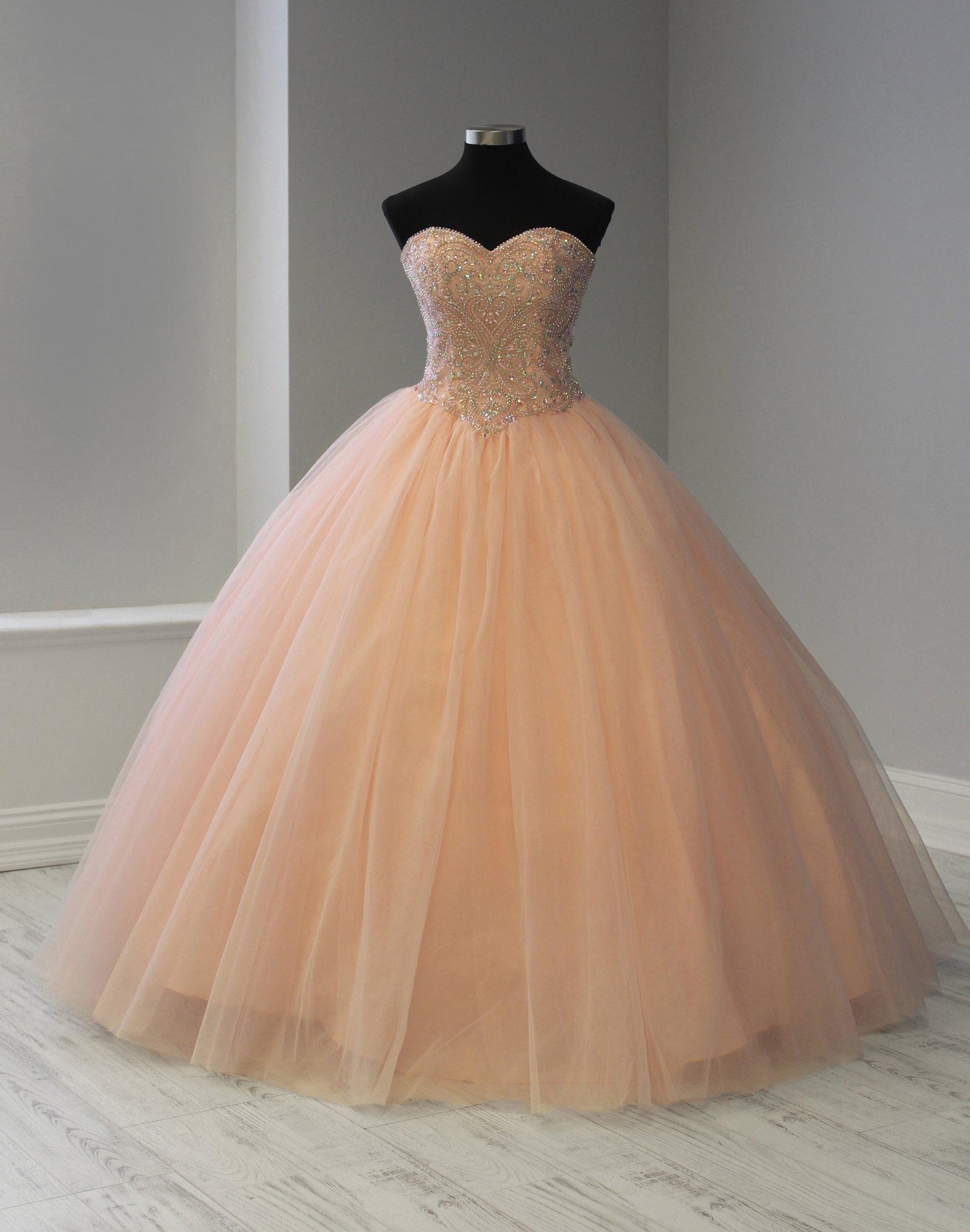 Strapless Sweetheart Quinceanera Dress by Fiesta Gowns 56366 -   19 dress Quinceanera gold ideas