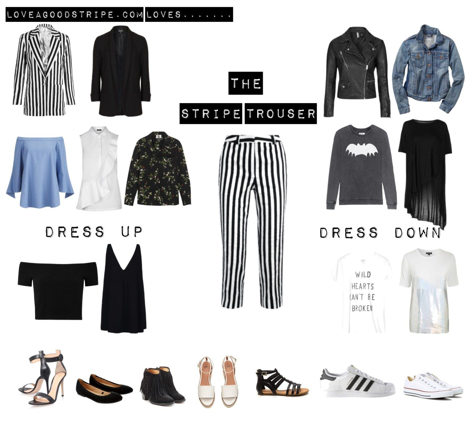 The splendid stripe trouser moment - Love a good stripe blog