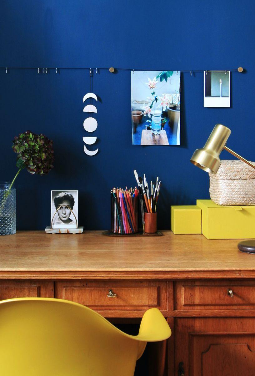 Zimmerfarbe stil wandfarbedunkelblautiefeentspannungsinnlich  moodboard