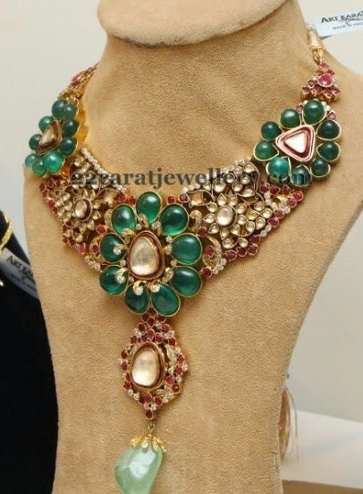 art karat floral necklace indian jewelry pinterest floral